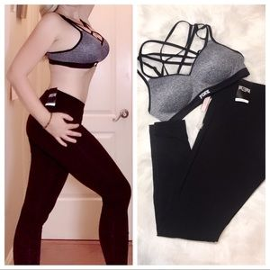 NWT PINK VS sports bra + leggings bundle